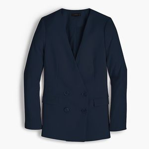 JCREW | NAVY FRENCH GIRL CREPE BLAZER - 6P